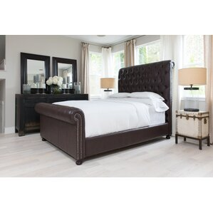 Watkins Bonded King Upholstered Bed by Darby Home Co