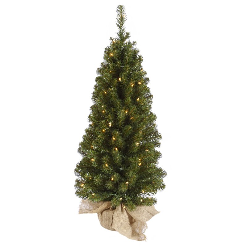 The Holiday Aisle Felton 3' Green Pine Artificial Christmas Tree ...