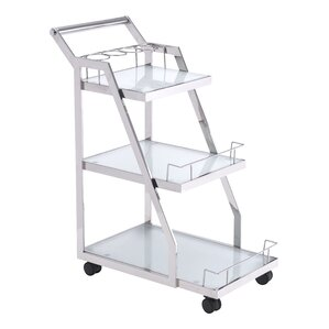 Romine Chrome Bar Cart by Willa Arlo Interiors