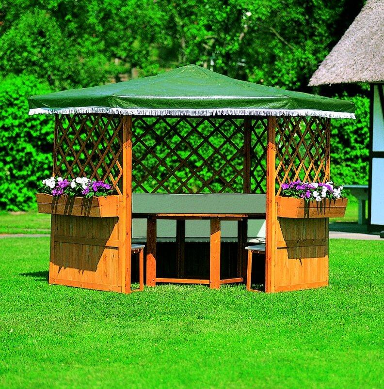 dCor design 211 cm x 309 cm Pavillon Marburg aus Holz | Wayfair.de