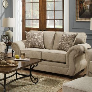 Simmons Vicki Parchment Loveseat by Darby Home Co