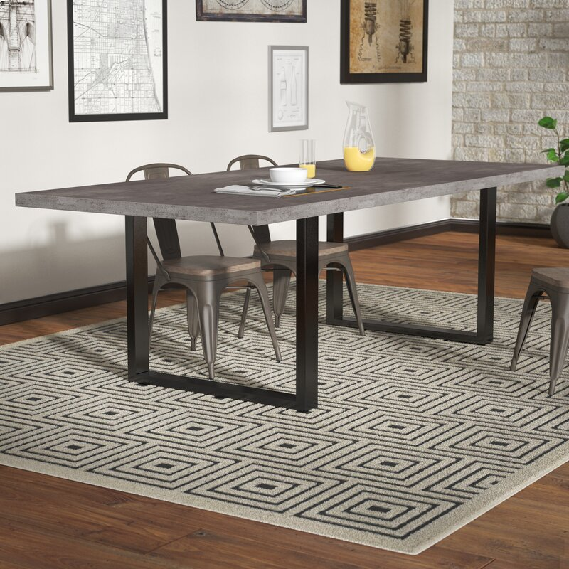 Concrete Dining Room Table: Carnarvon Concrete Dining Table & Reviews