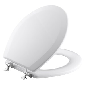 40cm round toilet seat. Triko Round Front Toilet Seat with Polished Chrome Hinges Seats You ll Love  Wayfair
