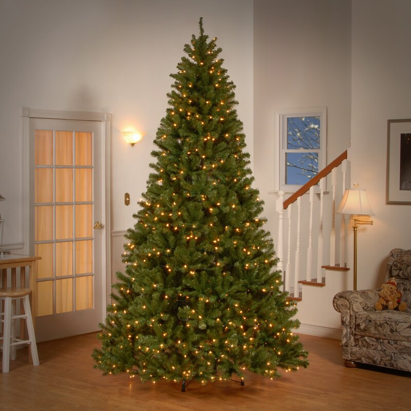 spruce artificial christmas tree with clear lights - Artificial Christmas Trees With Lights