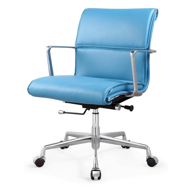 Italian Leather Office Chair  sc 1 st  Wayfair & Meelano Italian Leather Office Chair u0026 Reviews | Wayfair