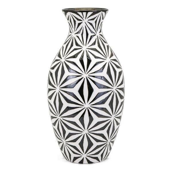 Violet Tall Earthenware Floor Vase Reviews Joss Main