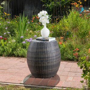 Balbuena Outdoor Wicker End Table by Varick Gallery