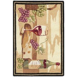 Brayton Ivory Wine Cellar Novelty Area Rug