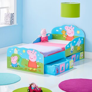 Toddler Bed Frame with Storage Drawers by Peppa Pig