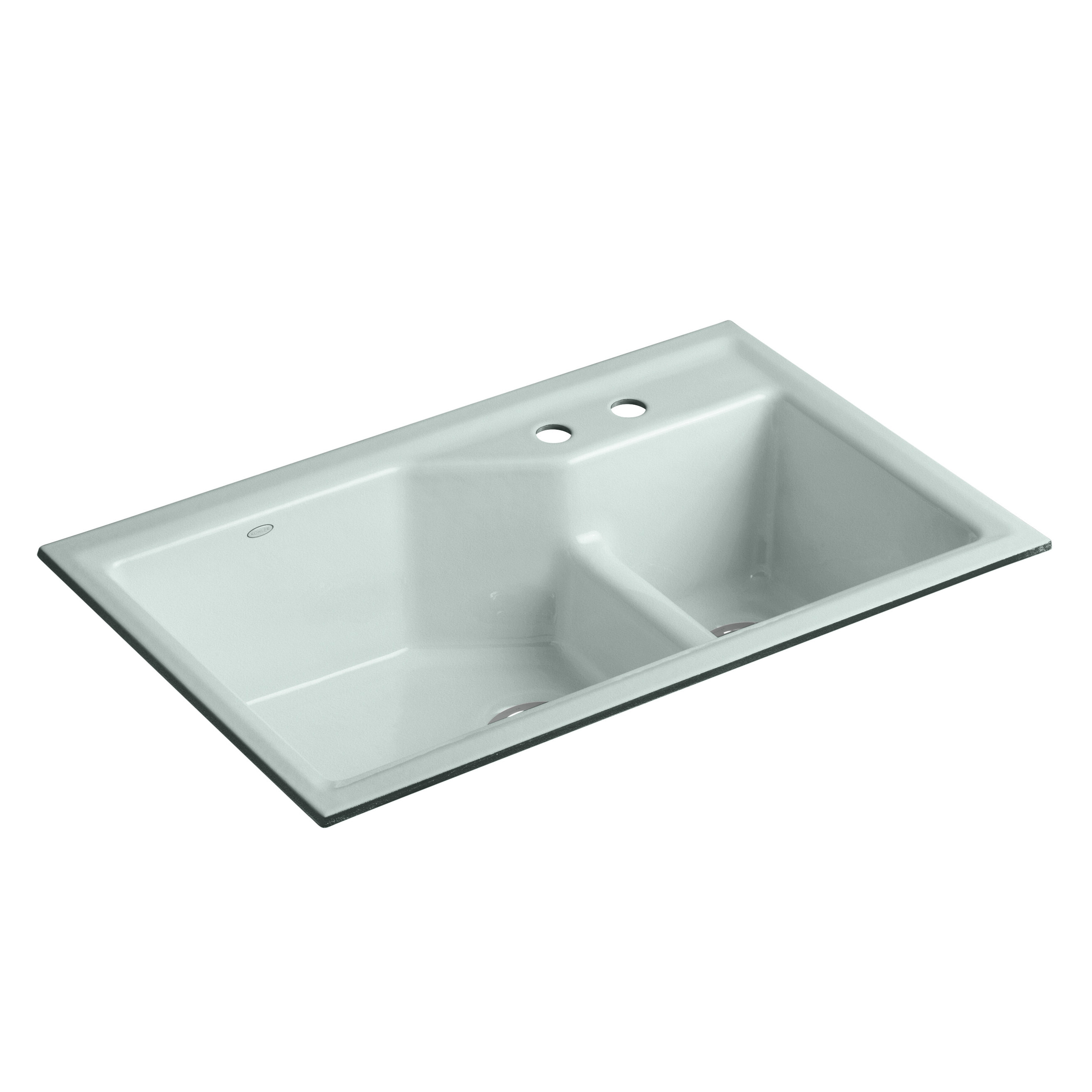 Kohler Indio 33  L x 21-1/8  W x 9-3/4  Under-Mount Smart Divide Large/Small Double-Bowl Kitchen Sink u0026 Reviews | Wayfair.ca  sc 1 st  Wayfair & Kohler Indio 33