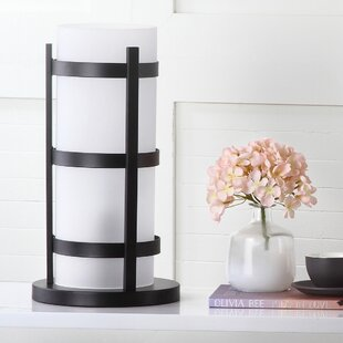 Hurricane table lamps wayfair minter 18 hurricane table lamp with drum shade set of 2 aloadofball Image collections