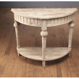 round console table. North Andover Half Round Console Table With Shelf