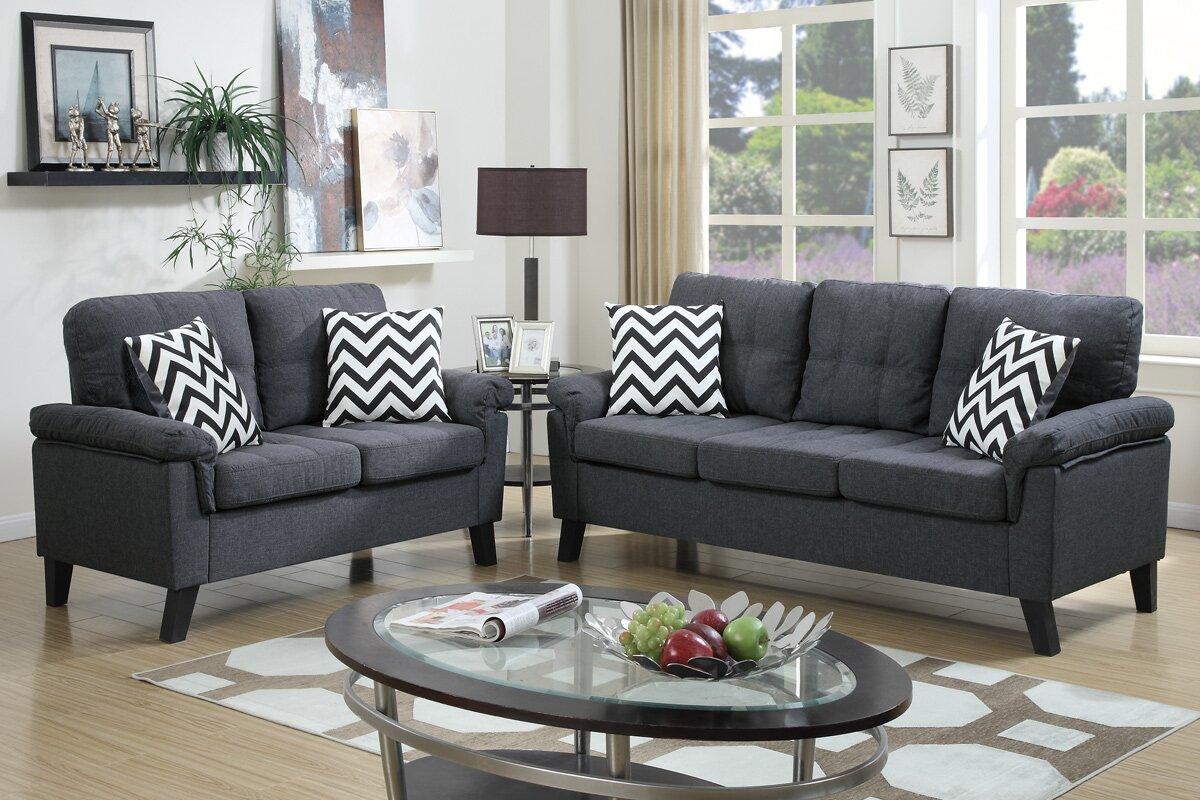 Carli 2 Piece Living Room Set