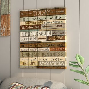 U0027New Dayu0027 Textual Art On Wood