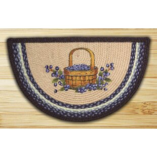 Blueberry Basket Printed Slice Rug By Earth Rugs