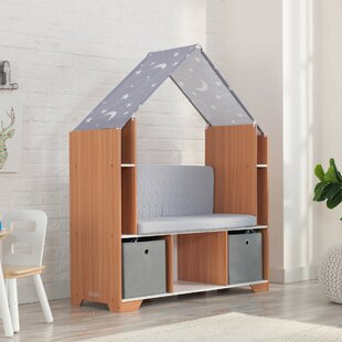 Bookshelf With Reading Nook Wayfair Ca