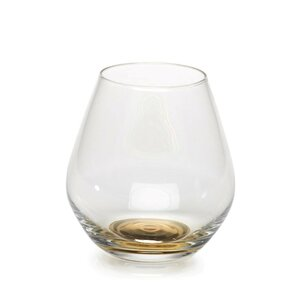 Rochell Golden Base 16 oz. Stemless Wine Glass (Set of 4)