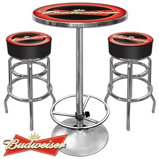 Ultimate Budweiser Game Room 3 Piece Pub Table Set Best Choices