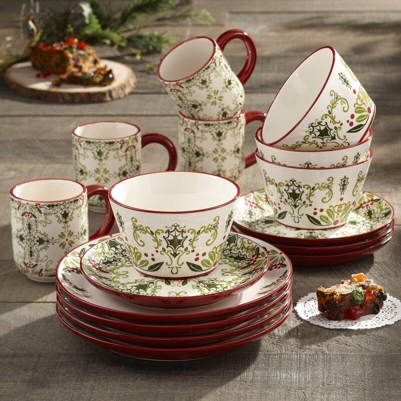 birch lane u2122 holmes 16 piece dinnerware set  service for 4  u0026 reviews