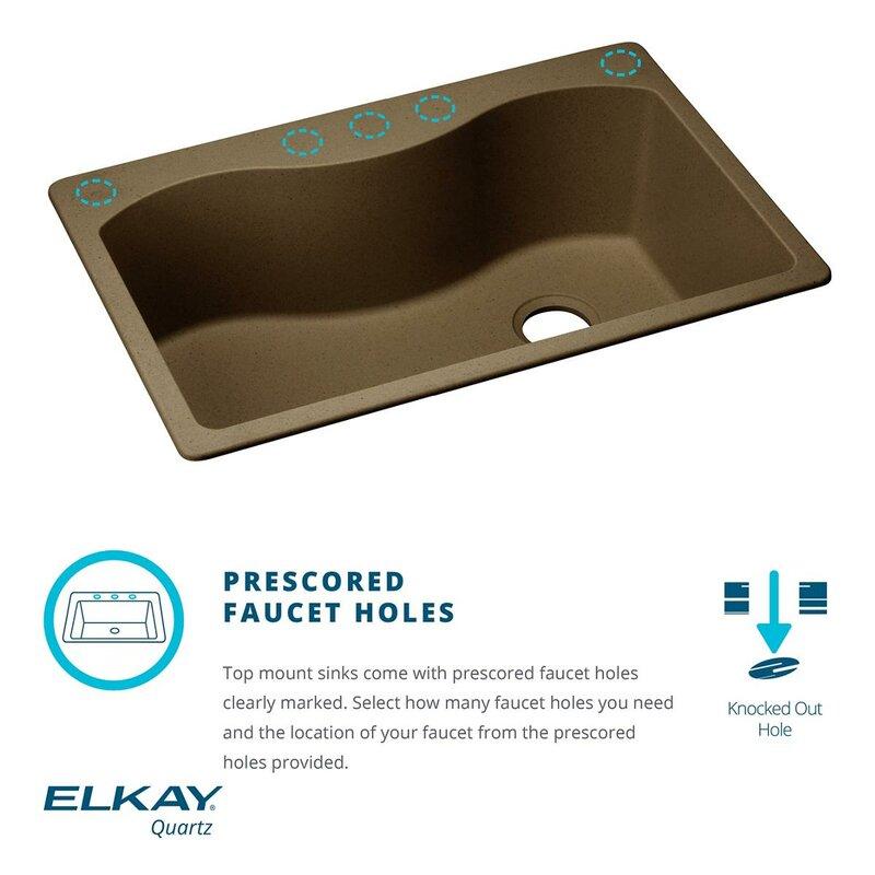 Kitchen Sink 25 X 22 Quartz classic 25 x 22 drop in kitchen sink reviews allmodern quartz classic 25 x 22 drop in kitchen sink workwithnaturefo