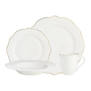 Bristol Scallop 16 Piece Dinnerware Set Service for 4  sc 1 st  Wayfair & Scalloped Dinnerware | Wayfair