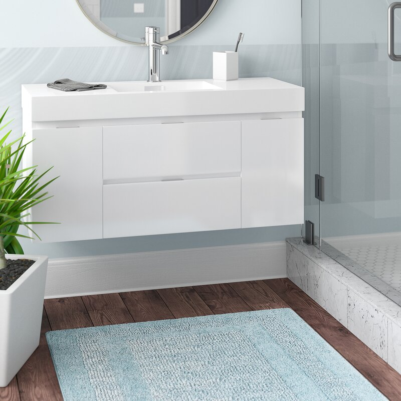 Wayfair wade logan tenafly 48 single wall mount modern - Contemporary bathroom vanity sets ...