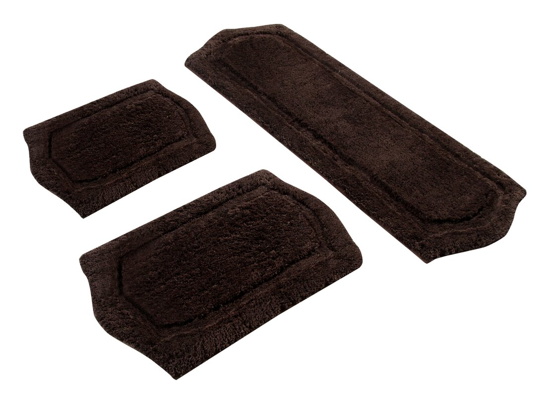 symple stuff 3 piece memory foam bath rug set & reviews | wayfair