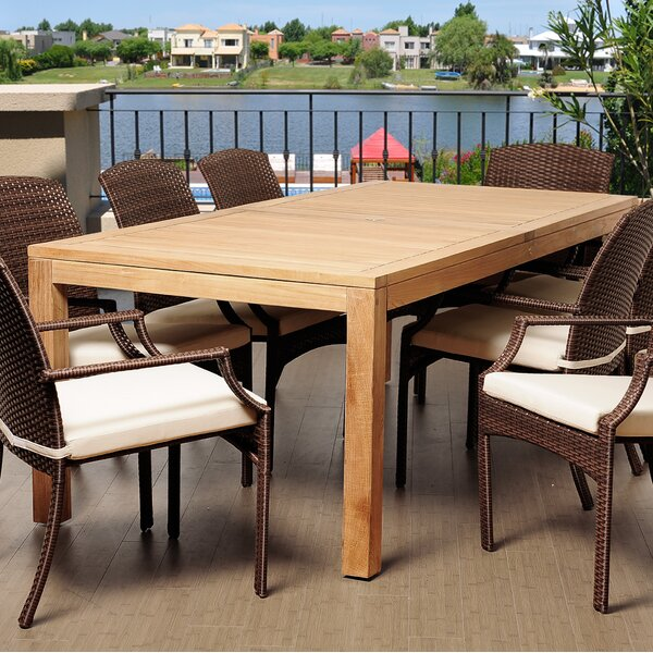 Rosecliff Heights Bridgepointe Rectangle Teak Wood Dining Table   Reviews    Wayfair. Rosecliff Heights Bridgepointe Rectangle Teak Wood Dining Table