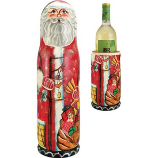 Russian Santa 1 Bottle Tabletop Wine Bottle Box