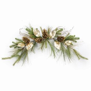 Glitter Pine Cone Garland Centerpiece (Set of 2)