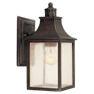 Outdoor lighting sale joss main kennett 1 light outdoor glass shade wall lantern aloadofball Gallery