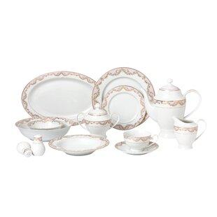 La Luna Bone China 57 Piece Dinnerware Set Service for 8  sc 1 st  Wayfair & Fine China You\u0027ll Love | Wayfair