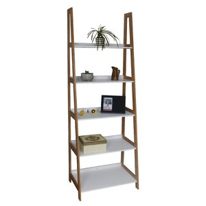 5-Tier Wooden/Bamboo Storage Ladder 180cm Bookcase