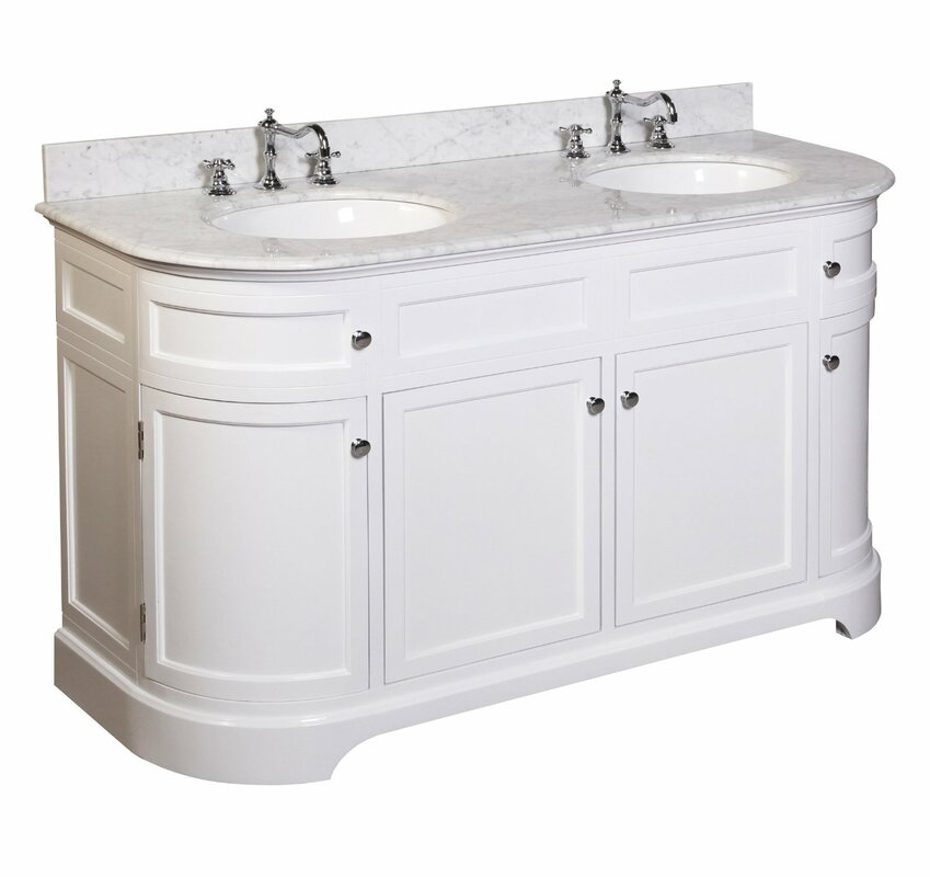 "kbc montage 60"" double bathroom vanity set & reviews 