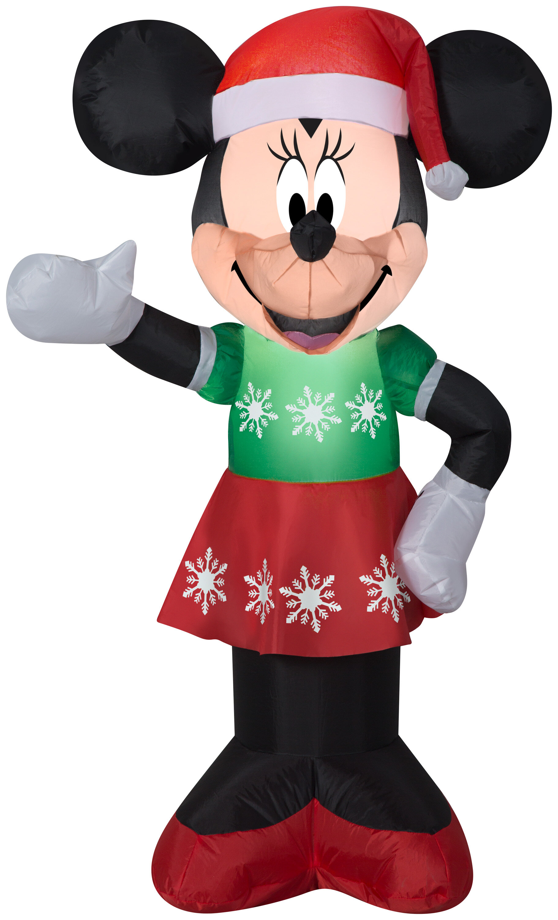 Gemmy Industries Airblown Minnie Mouse in Snowflake Dress Disney Christmas Inflatable | Wayfair