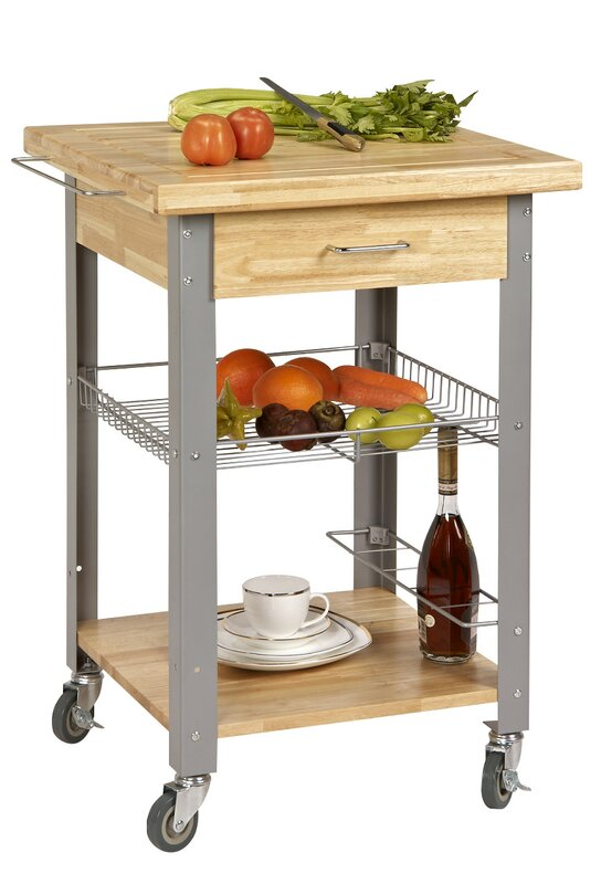 CORNER HOUSEWARES Rolling Storage and Organization Kitchen Cart ...