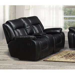 Red Barrel Studio Aisling Reclining Loveseat with Storage Console
