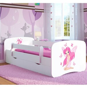 Butterfly Fairy Children's Cabin Bed with Mattress and Drawer