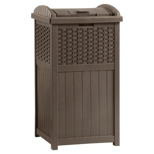 outdoor patio trash can wayfair rh wayfair com Trash Can Accessories All Weather Trash Can