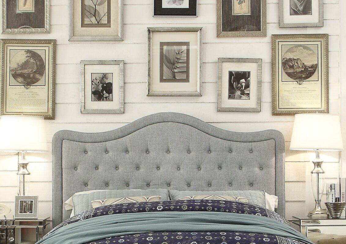 darby home co turin tufted upholstered panel headboard  reviews  - defaultname