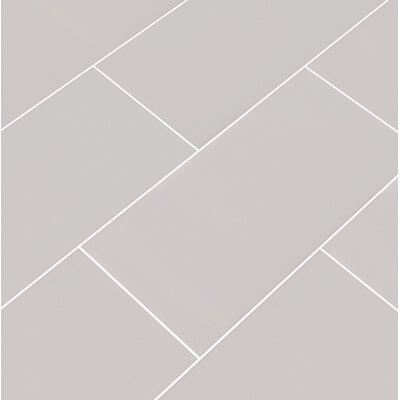 Msi Glossy 3 X 6 Ceramic Subway Tile In Gray Wayfair
