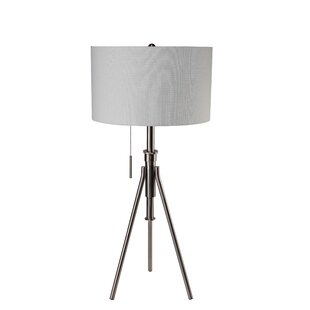 Height adjustable table lamps youll love wayfair contemporary adjustable 37 tripod table lamp aloadofball Images