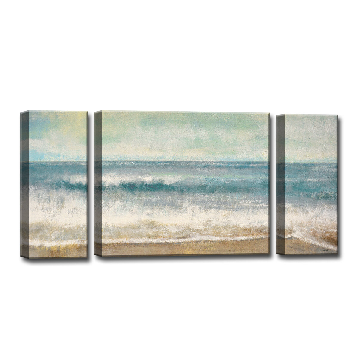 Beach Memories 3 Piece Painting Print On Wrapped Canvas Set