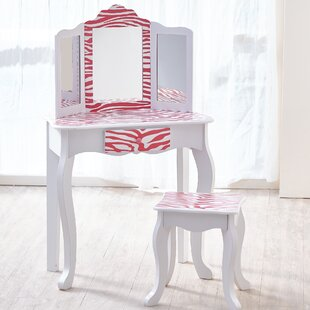 Conlin Children's Dressing Table Set with Mirror by Zoomie Kids