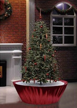 55 musical snowing artificial christmas tree with red lights - Red Christmas Tree Lights