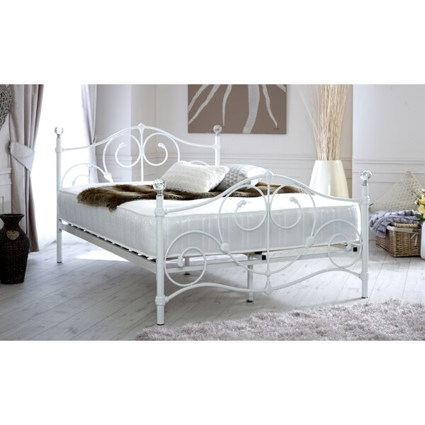 Home Haus Toledo Scrolled Metal Double Bed Frame Reviews Wayfair Co Uk