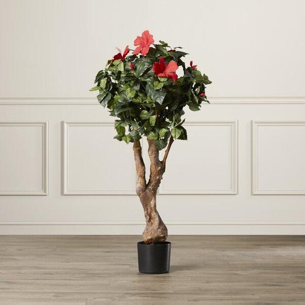 Pure Garden Artificial Hibiscus Flowering Tree In Pot Reviews