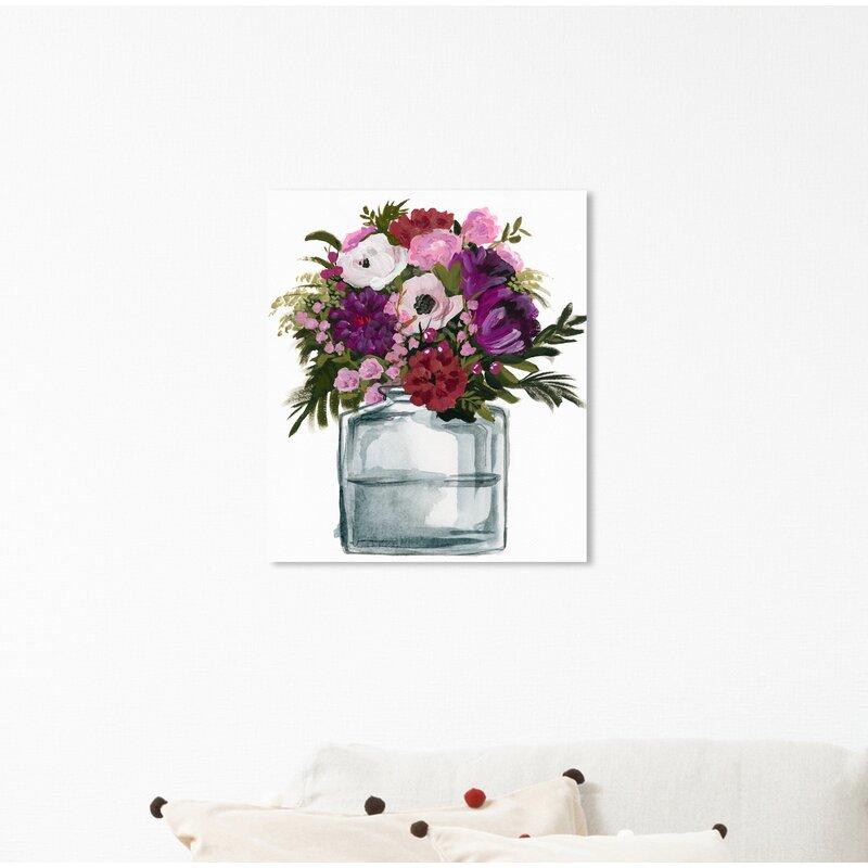 House Of Hampton Summer Flower Vase Acrylic Painting Print Wayfair
