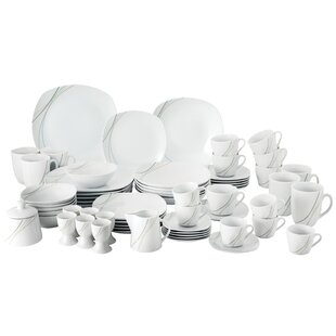 Aliha 62 Piece Dinnerware Set