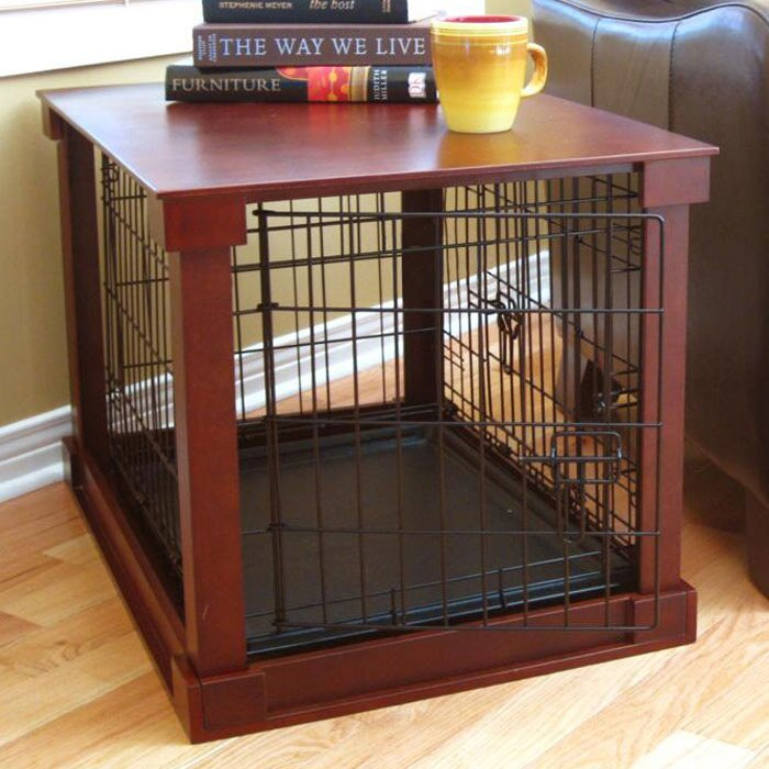 High Quality Deluxe Pet Crate In Brown